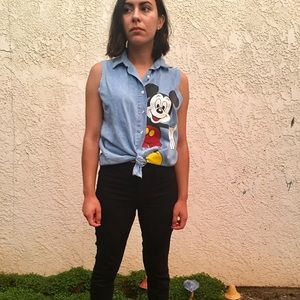 Vintage Mickey Unlimited Button up Top🐭